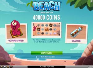 Beach slotmaskinen SS 6