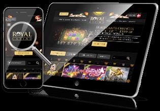 Mobil & tablet spil hos RoyalCasino.dk