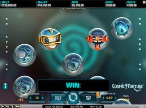 Cosmic Fortune slotmaskinen SS 1