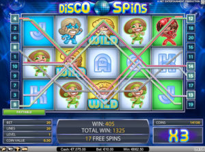 Disco Spins slotmaskinen SS 2