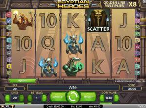Egyptian Heroes slotmaskinen SS-02