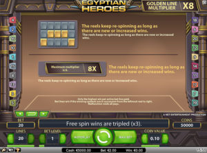 Egyptian Heroes slotmaskinen SS-03