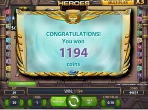 Egyptian Heroes slotmaskinen SS-04