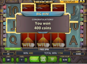 Egyptian Heroes slotmaskinen SS-05