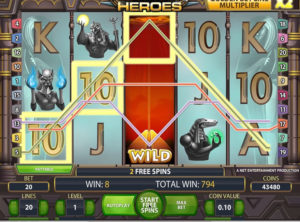 Egyptian Heroes slotmaskinen SS-06