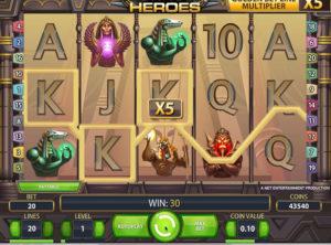 Egyptian Heroes slotmaskinen SS-10
