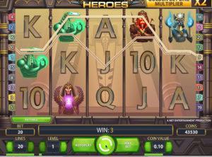 Egyptian Heroes slotmaskinen SS-11