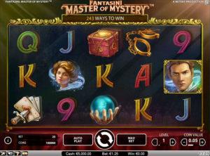 Fantasini Master of Mystery slotmaskinen SS 3