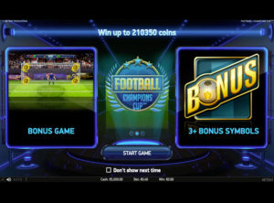 Football Champions Cup slotmaskinen SS 4