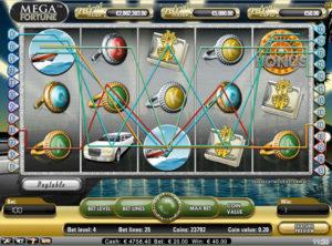 Mega Fortune slotmaskinen SS 4