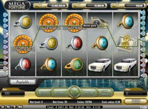 Mega Fortune slotmaskinen SS 8