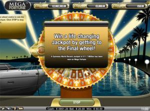 Mega Fortune slotmaskinen SS 9