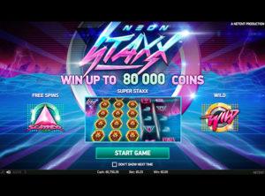 Neon Staxx slotmaskinen SS-07