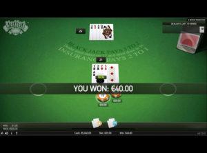 Blackjack Online spil - SS 5