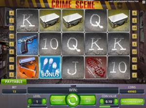 Crime Scene slotmaskinen SS-01