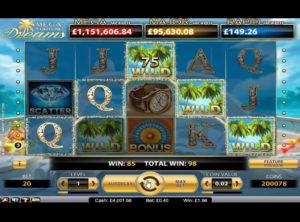 Mega Fortune Dreams slotmaskinen SS-03