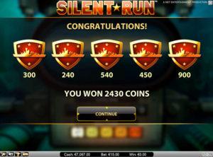 Silent Run slotmaskinen SS-02