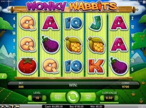 Wonky Wabbits slotmakinen SS-05