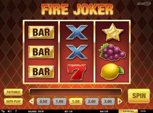 Fire Joker slotymaskinen SS-05