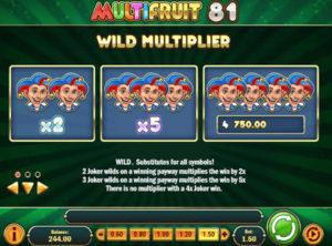 Multifruit 81 slotmaskinen SS-01