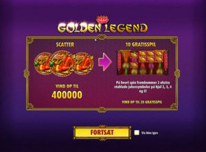 Golden Legend slotmaskinen SS-01
