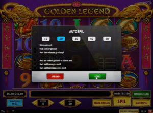Golden Legend slotmaskinen SS-03