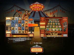 Golden Ticket slotmaskinen SS-01