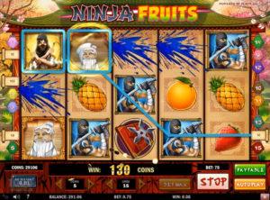 Ninja Fruits slotmaskinen SS-03