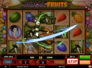 Ninja Fruits slotmaskinen SS-07