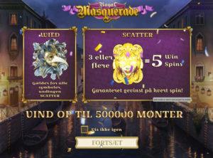 Royal Masquerade slotmaskinen SS-01