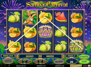 Samba Carnival slotmaskinen SS-05