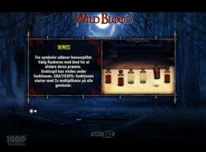 Wild Blood slotmaskinen SS-01