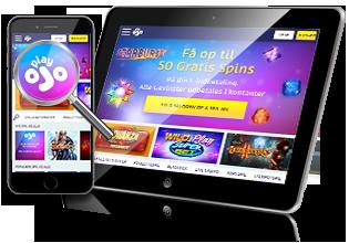 PlayOJO.dk spil på mobilen