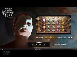 Universal Monsters The Phantoms Curse NetEnt Slotmaskine SS 2