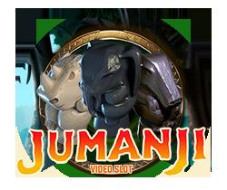 Jumanji Spilleautomat - feat logo
