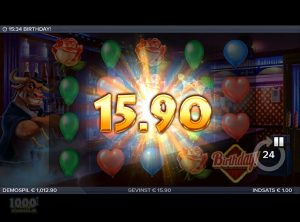 Birthday Slotmaskine - Screenshot 9