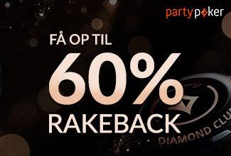 PartyPoker Diamond Elite - Få op til 60% i rakeback