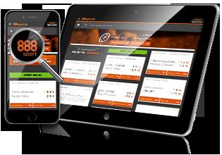 888 Sport mobil og tablet spil