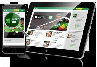 Unibet Poker mobil og tablet spil